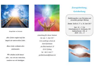 Energieheilung, Geistheilung